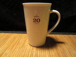2010 Starbucks Venti Coffee Latte Tea Cup Ivory Ceramic Tall Mug 20 oz - $24.99