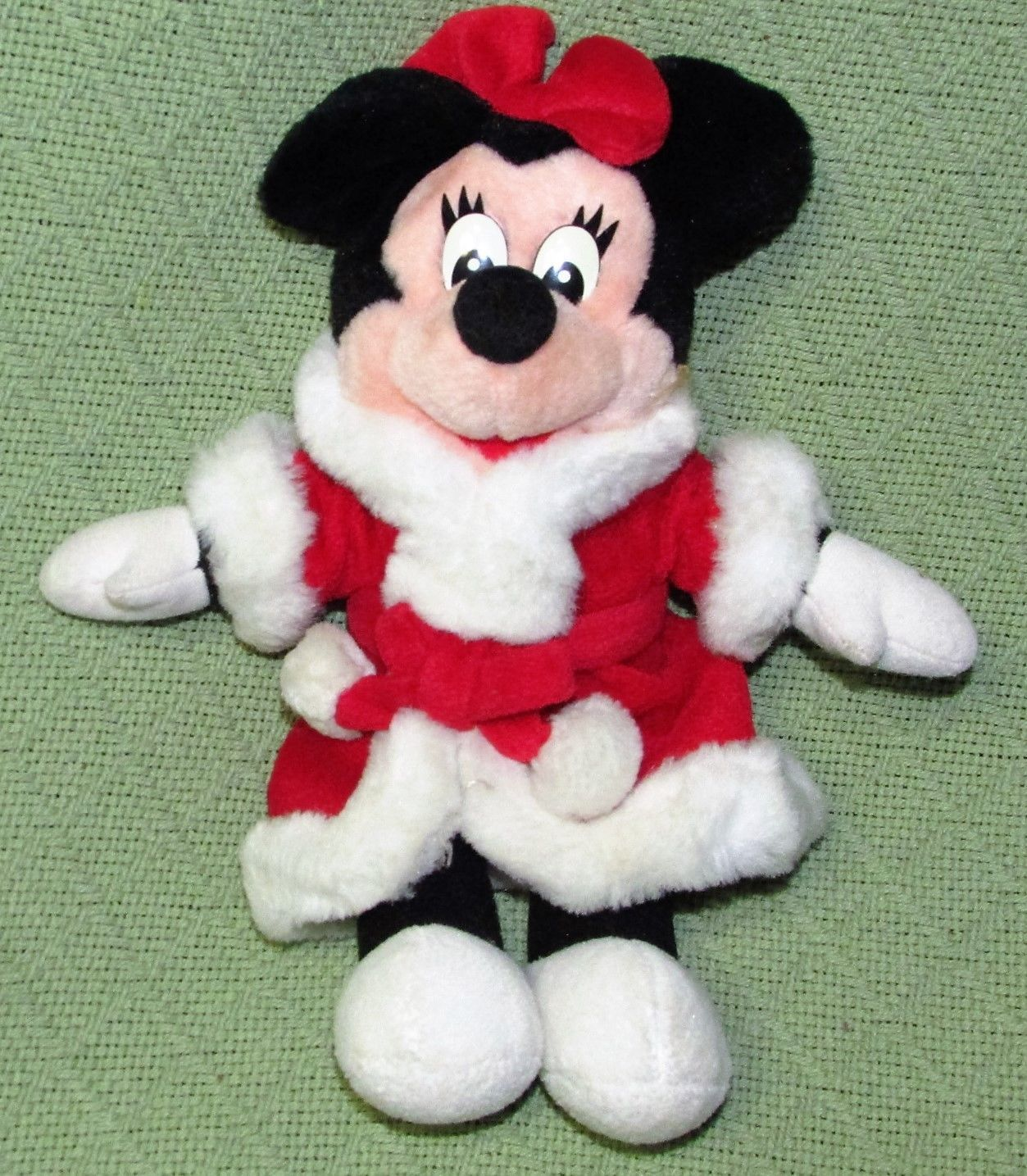 DISNEY STORE BABY Pink Easter Bunny & Mrs. Santa Claus Minnie Mouse Plush Dolls image 7