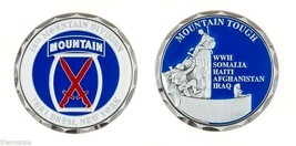 "ARMY FORT DRUM 10TH MOUNTAIN DIVISION 1.75"" MILITARY CHALLENGE COIN - $16.24"