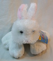 "GANZ FUZZY WHITE BUNNY RABBIT 7"" Plush Stuffed Animal Toy NEW w/ TAG Web... - $15.35"
