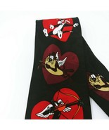 Looney Tunes Mania Valentine's Tie 100% Silk Tasmanian Devil Daffy Bugs ... - $12.16