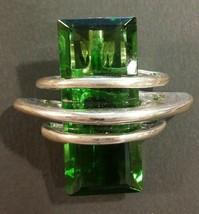 Vintage Huge Emerald glass pendant - $38.61