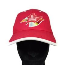 Coca Cola 2008 Bejing Olympics Hat Cap Red One Size Adjustable Coke Stru... - $11.99