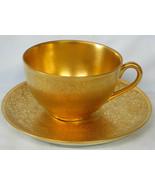 Pickard Gold Rose & Daisy Cup & Saucer - $29.59