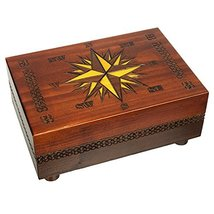 Secret Opening Compass Rose Cartography Box, Enchanted World of Boxes - $44.54