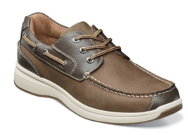 Florsheim Great Lakes Moc Toe Oxford Boat Shoes Stone 13319-275 - $108.00