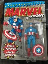 Marvel Superheroes CAPTAIN AMERICA Action Figure MOC NEW 1990 w/ Sheild ... - $16.82