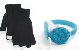 Chatties Wired Earmuffs + Touchscreen Gloves Winter Fashion Technology C... - $1.152,06 MXN