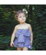 wholesale drop shipping Infant Baby Girls Sleeveless Solid Striped Boob ... - $7.99