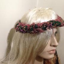Beautiful, Colorful, Renaissance Dried Flowers Head Band - $9.45