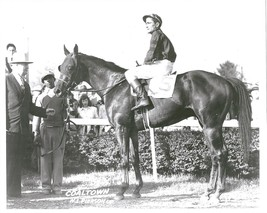 COALTOWN 8X10 PHOTO HORSE RACING PICTURE JOCKEY NEWBOLD N.L. PIERSON - $3.95