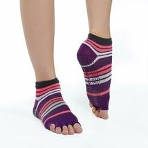 Gaiam One Pair Purple Toeless Yoga Socks Size Small / Medium No Slip NEW - $9.89