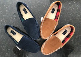Ralph Lauren In & Outdoor, Men's Pony Blue & Brown Mocassin Slippers Siz... - $59.83