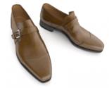 New men s brown handmade formal monk shoes  men dress shoes  men leather shoes thumb155 crop