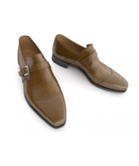 New Men,s Brown Handmade formal monk Shoes, Men dress shoes, Men leather... - £122.21 GBP