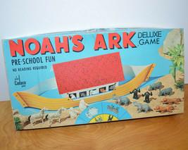 Vintage Noah's Ark Board Game 1971 Cadaco Plastic Miniature Animals - $10.69