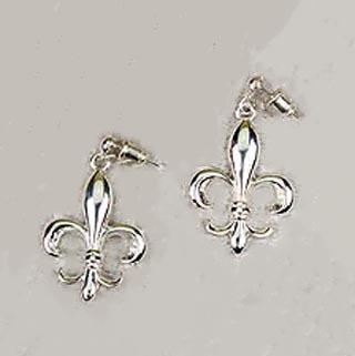 Fleur delis ZAMAK Post Earrings