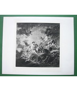 NUDE Mythology Forge of Vulcan by Boucher - SUPERB Antique Print - $18.90