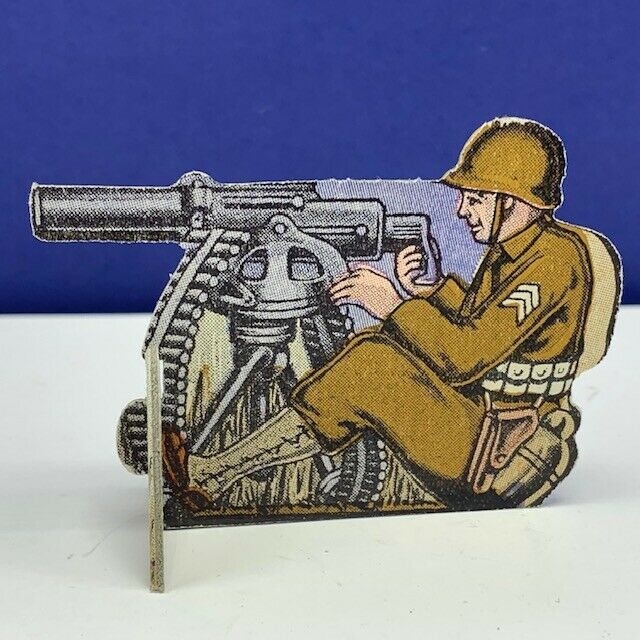 Primary image for Bomber Raid vtg board game piece 1943 Fairchild toy soldier military gatling gun