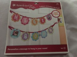 AMERICAN GIRL Garland Letters & Frames Craft Kit Kids Room Decor Free Sh... - $14.99