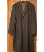 ROBERTO ANTONI Roma 3BTN Men's Charcoal Black Long Overcoat 46L Cashmere... - $56.43