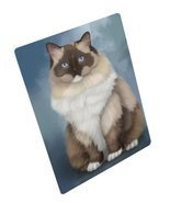 Ragdoll Cat Art Portrait Print Woven Throw Sherpa Plush Fleece Blanket (... - $137.61