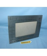 Love Happiness Life Mantra Metal Photo Frame 9x7 For 5.5 x 4 Pictures - $19.79