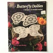 Butterfly Doilies American School of Needlework Thread Crochet 5 Pattern... - $24.74