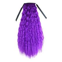 Purple Wavy Curly Wrap Around Ponytail Wig Extension Woman Drawstring Sy... - $19.01