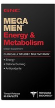 GNC Mega Men MultiVitamin Energy Metabolism Mental Focus 90 Tablets - $18.99