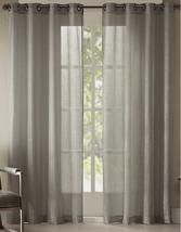 NEW Studio JCP Home Pearl Metallic Grommet Curtain Panel Gray Mist 50 x 84 - $17.00