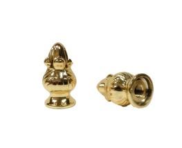 Lamp Finial-Pair of Polished Brass ACORN Finials-Dual Thread - €6,22 EUR