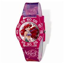 Disney Ariel Acrylic Case Pink Printed Band Time Teacher Watch - $29.00