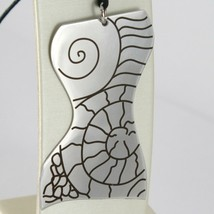 Pendant Steel Engraved With Bust Of Women's,Shell And Lines Slinky Bass image 1