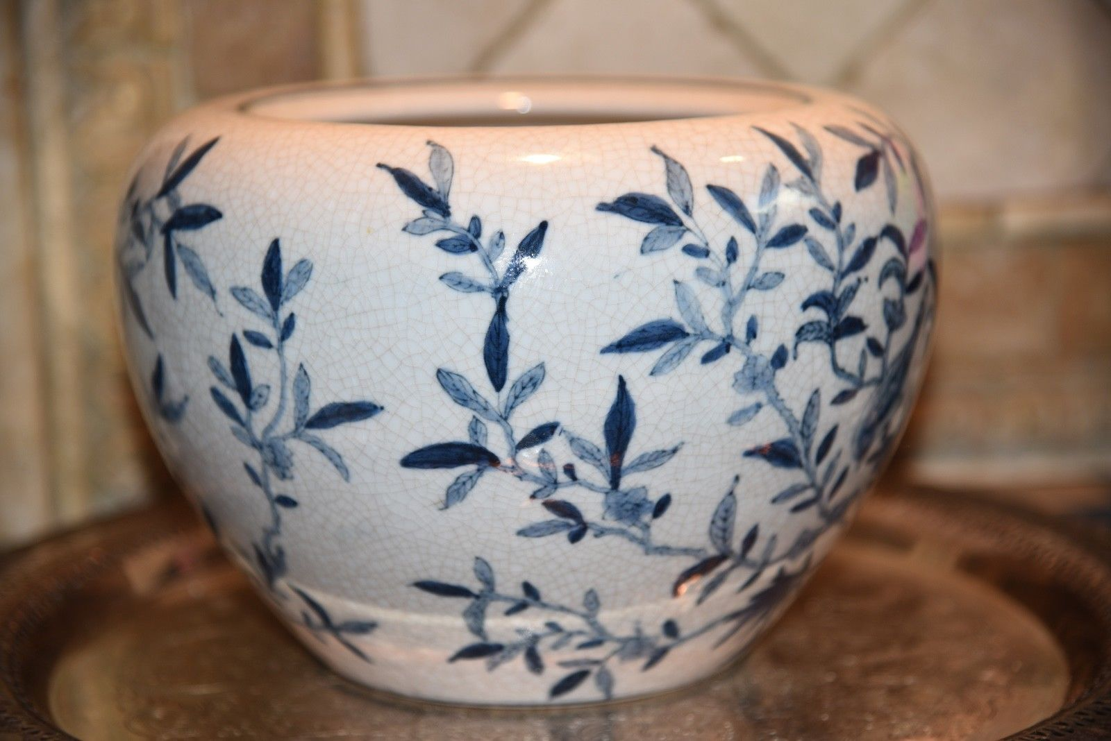 New England Pottery Blue White Bird And 50 Similar Items