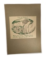 Ex Libris Book Plate Exlibris Black Fox Lodge Mayfair Ranch Brattleboro ... - $49.49