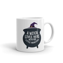 New Mug - A witch lives here with her little monsters Mug funny - £8.52 GBP+