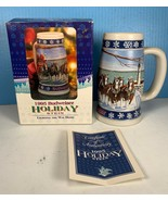 "NEW IN BOX 1995 Budweiser Holiday 20oz Stein ""Lighting The Way Home"" NIB... - $19.79"