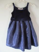 Blueberi Boulevard Girl's Sz 4T 4 Sleeveless Navy Blue Velour Gown Dress - $20.00