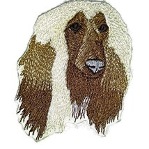 "Afghan Hound dog face Embroidery IronOn/Sew patch [3"" x 2.5""][Made in USA] - €5,95 EUR"