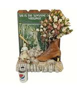She is the Sunshine of Virginia Wall Hanging Flowers Figurine Hand Made ... - $98.99