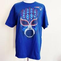 New England Patriots NFL Football Luchador Mask T-Shirt Mens Large - $14.99