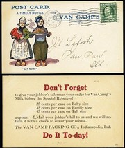 Van Camp's Milk & Packing Multicolor 1909 Advertising Postcard - Stuart ... - $70.00