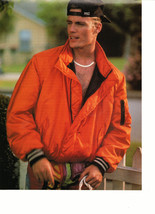 Vanilla Ice teen magazine pinup clipping orange jacket by a white fence ... - $3.50