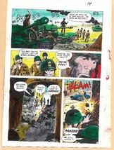Original 1970s Sgt Rock Our Army at War 283 DC Comics color guide produc... - $99.50