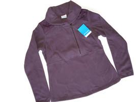 Columbia Women's Warm Up Fleece Half Zip Jacket Purple Size Medium M nwt - $42.03