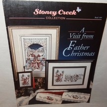 Visit from Father Christmas Cross Stitch Leaflet 109 Stoney Creek Santa ... - $9.99