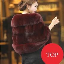2017 NEW Women's Faux Sable fur Wrap Shawl Scarf Cape Poncho warm cloak Red - €26,03 EUR