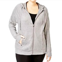 Ideology Women Heather Gray Life On The Go Knit Hoodie Sweater New Plus ... - $15.83