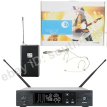MICWL Beige Headset Mic Stage Singing Wireless Digital Microphone System - $109.01
